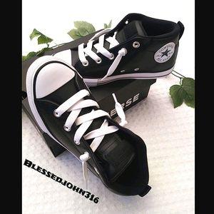 Converse Black Leather Sneakers Size 3 Unisex NIB